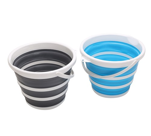 Home+ Collapsible Household 11 Litre Bucket - Grey