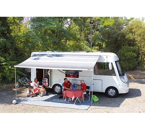 Fiamma F45s 190 Motorhome Awning - Polar White Case - Royal Grey Fabric