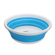 Home+ Collapsible 8 Litre Round Wash Basin - Blue