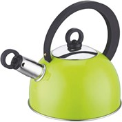 'Colours' Lime Whistling Kettle 1.2 Ltr Stainless Steel