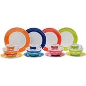 Flamefield Melamine Colour Works 16 Piece Dinner Set