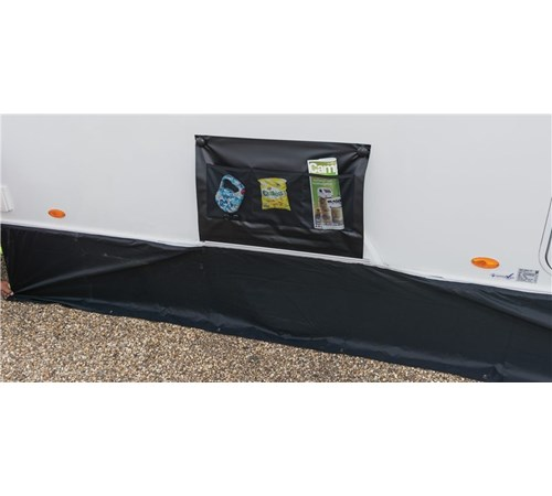 Kampa Limpet Suction Single Axle Wheel Arch Cover - Black