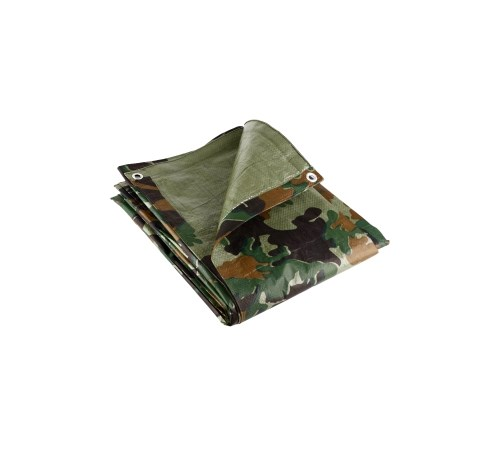 Camouflage Tarpaulin With Eyelets - 4.5m x 6.0m