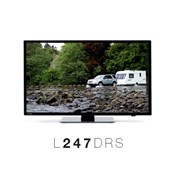 """L247DRS 24"""" LED TV / DVD / PVR Combi with built-in DVB-T2 and DVB-S2"""