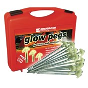 Crusader Hard Ground Glow Pegs for Tents & Awnings - 20 in Case