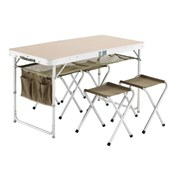 Trigano Portable Folding Table with 4 Stools