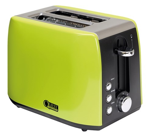 Quest 2 Slice Low Wattage Stainless Steel Green Toaster