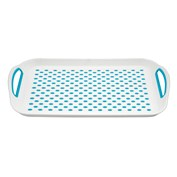 Home+ Non-Slip Serving Tray - Blue