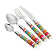 Camper Smiles Stripe Cutlery Set - 16 Piece