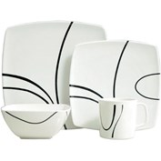 Flamefield Melamine Zen 16 Piece Caravan Dinner Set