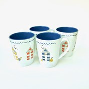 Royal Leisure Seashore 4 Pack Mug Set
