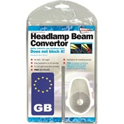 Streetwize Continental Headlamp Beam Converter with GB Plate
