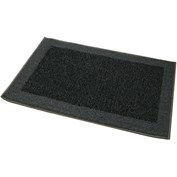 JVL Madras Machine Washable Doormat - Grey & Black