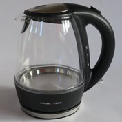 Swiss Luxx 1-Litre Glass Cordless Low Wattage Kettle