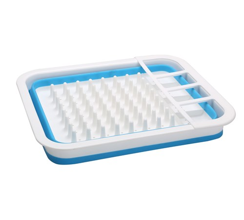 Home+ Collapsible Dish Rack - Blue