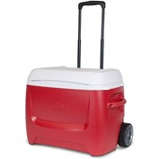 Igloo Island Breeze 60 Quart Roller Cooler - 57 Litres - Red