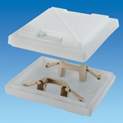 MPK 400 Rooflight Dome With Beige Handles (Dome Only)