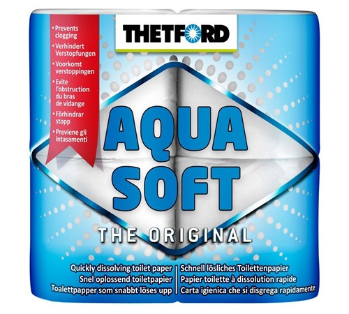 Thetford Aqua Soft Toilet Roll - Pack of 4