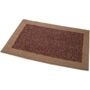 JVL Madras Machine Washable Doormat - Beige & Red