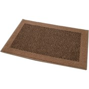 JVL Madras Machine Washable Doormat - Beige & Brown