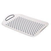 Home+ Non-Slip Serving Tray - Grey
