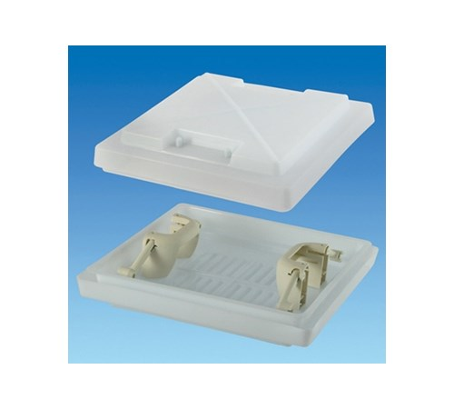MPK 280 Rooflight Dome With White Handles (Dome Only)