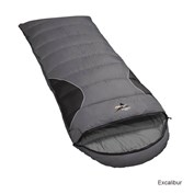 Vango Wilderness 250 Square Sleeping Bag R/H Zip - Excalibur/Black