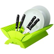 'Colours' Lime Green Plastic Dish Drainer Plate and Cutlery Rack Holder