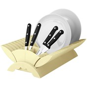 'Colours' Cream Plastic Dish Drainer Plate and Cutlery Rack Holder