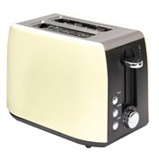 Quest 2 Slice Stainless Steel Toaster 900W - Cream